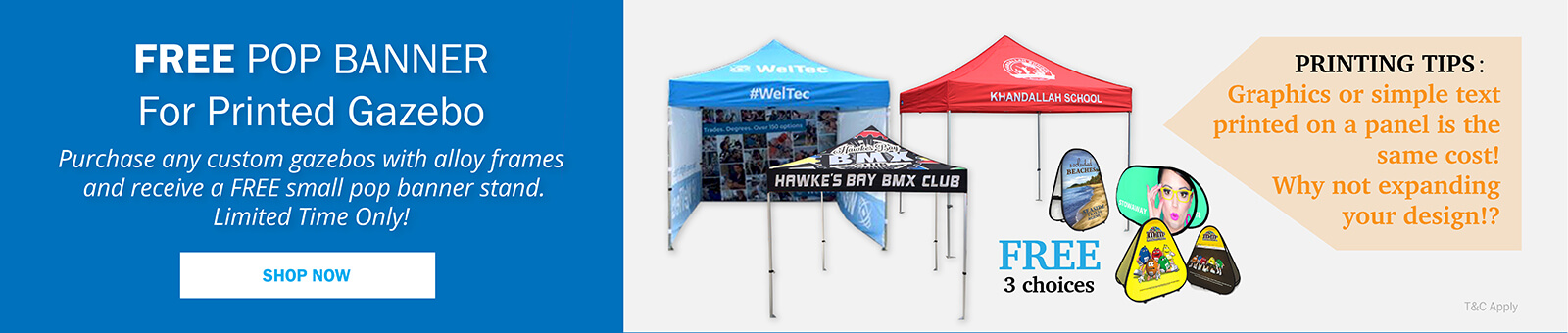 NZ's Custom Printed Pop-up Gazebo For Sale | Hercules Gazebo